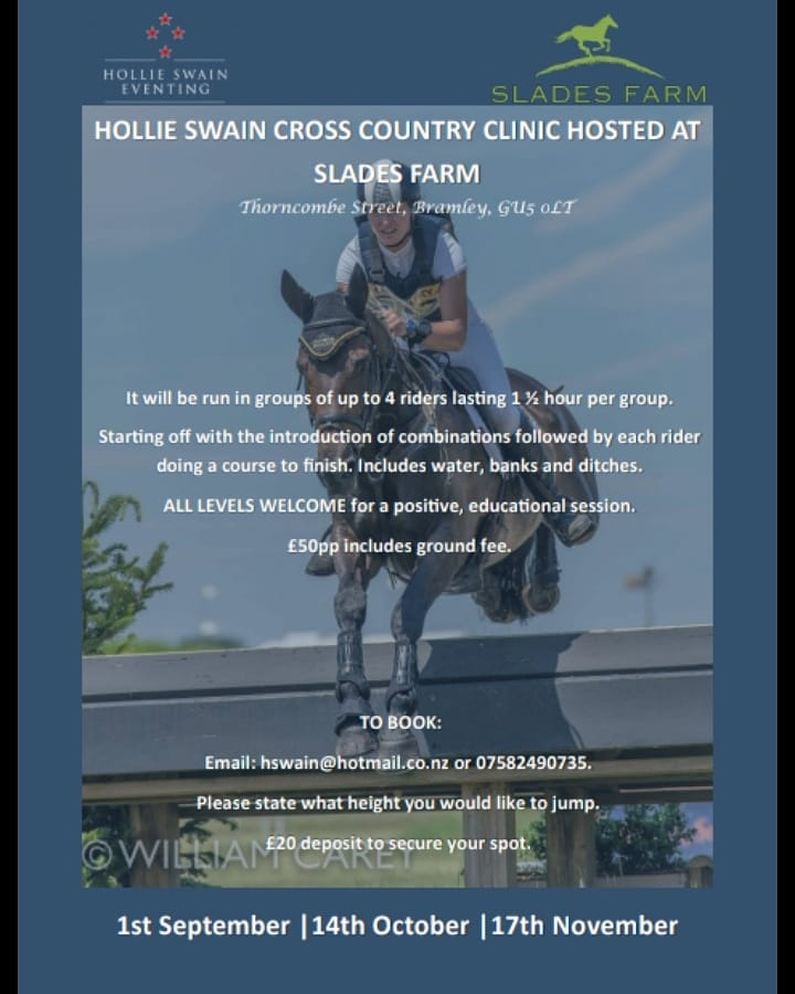 Slades XC Clinic Dates